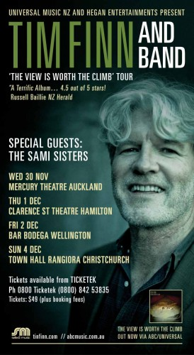 Tim Finn donates 20 tickets to the Hone Tuwhare Charitable Trust. - Tim Finn - The view is worth the climb